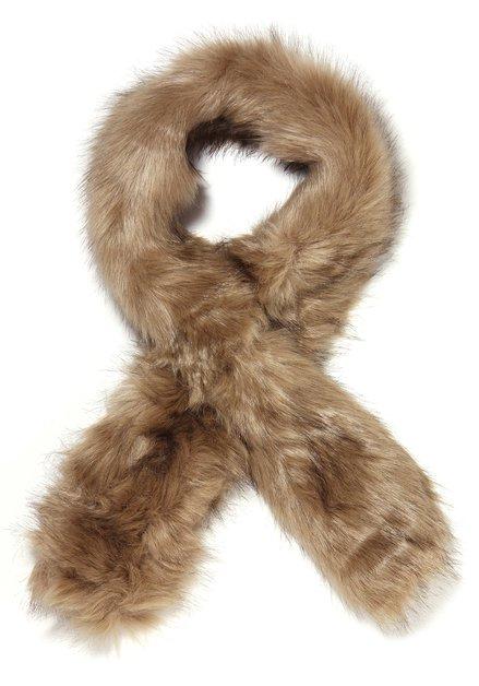 Bruine faux fur sjaal