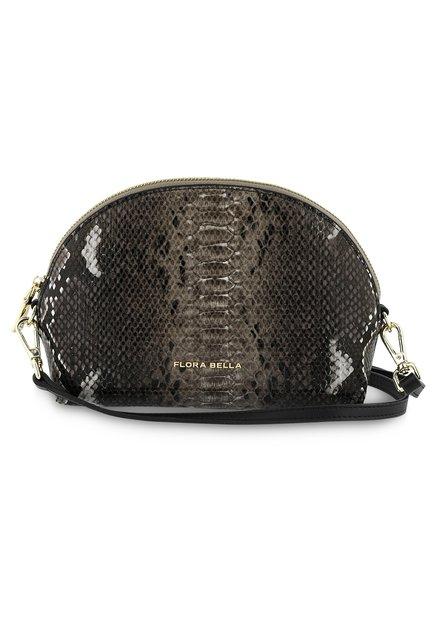 Bruine handtas met slangenprint