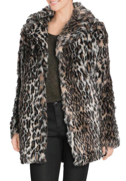 Bruine mantel in nepbont met tijgermotief