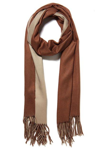 Bruine sjaal met kasjmierwol