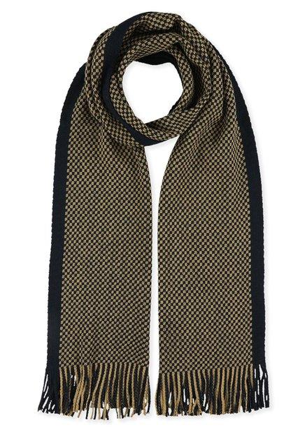 Camel en navy sjaal