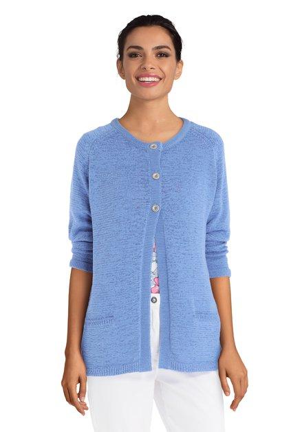 Cardigan bleu en tricot