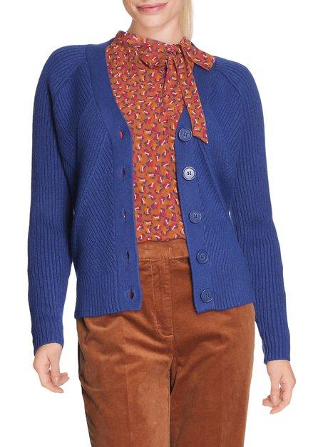 Cardigan bleu royal avec boutons