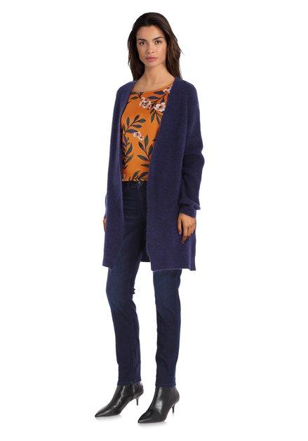 Cardigan en tricot bleu foncé