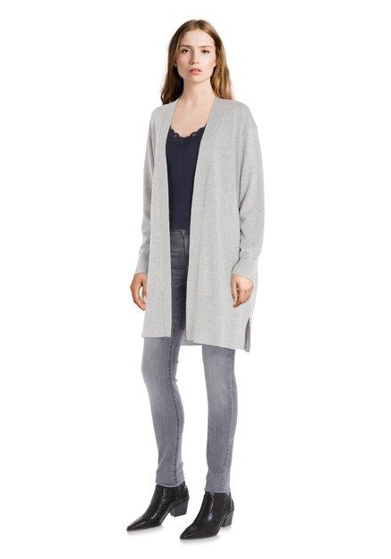 Cardigan gris clair avec laine et cachemire