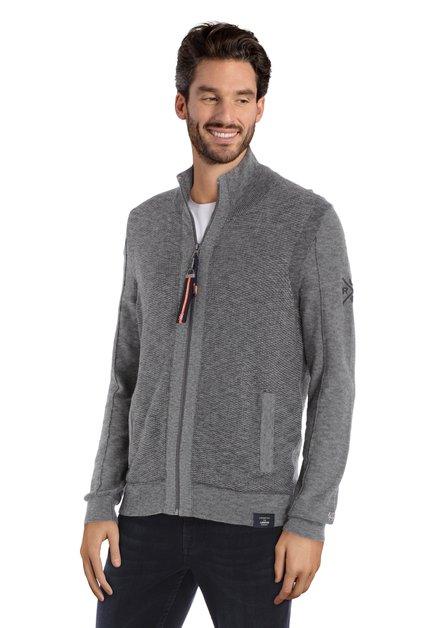 Cardigan gris texturé