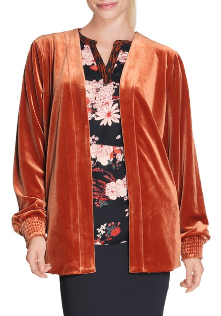 Cardigan orange en velours