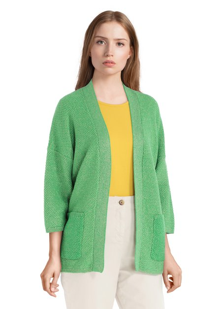Cardigan vert avec lurex