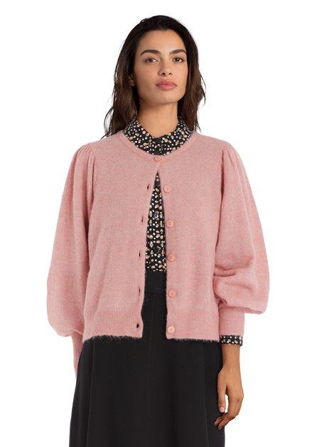 magasiner pour véritable conception populaire qualité authentique Cardigan vieux rose en laine alpaga