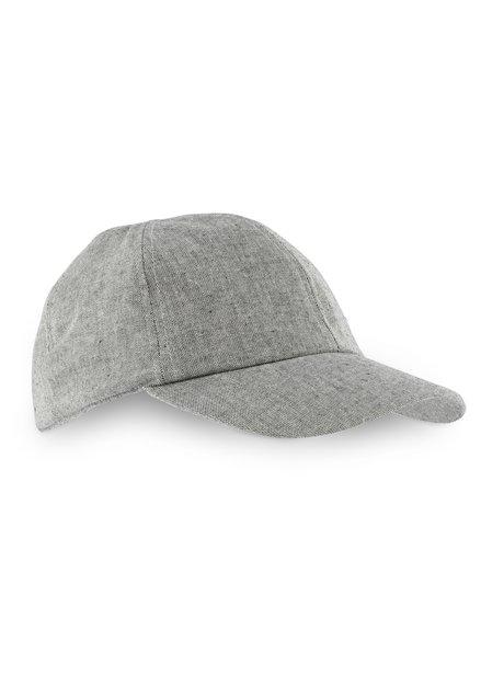 Casquette grise à effet moucheté
