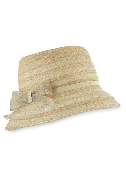 Chapeau beige avec noeud