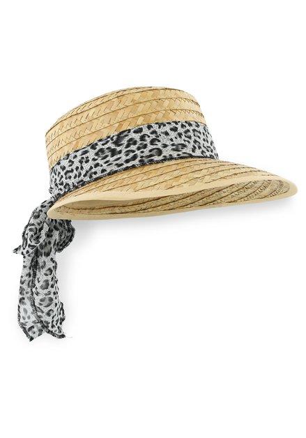 Chapeau de paille avec motif léopard