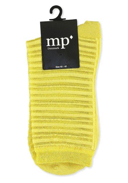 Chaussettes jaunes pailletées à rayures