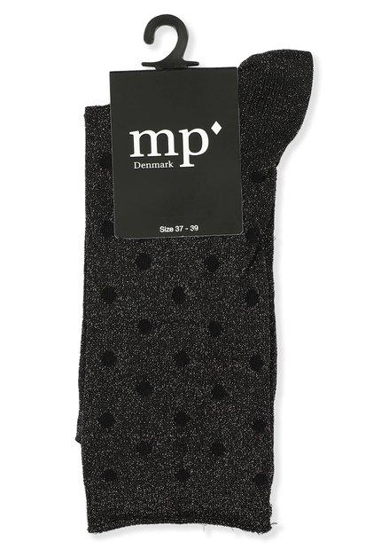 Chaussettes noires pailletées à pois