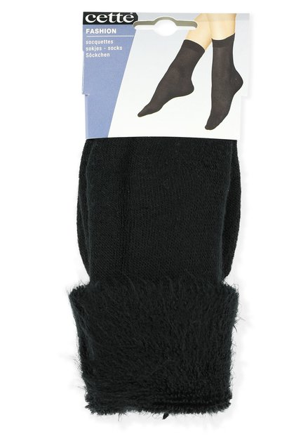 Chaussettes noirs à revers
