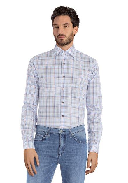 Chemise à carraux bleus et rouges - Slim fit