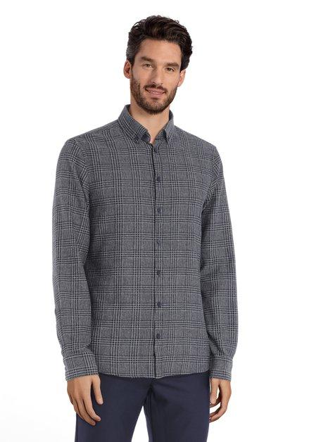 Chemise à carreaux anthracite – regular fit