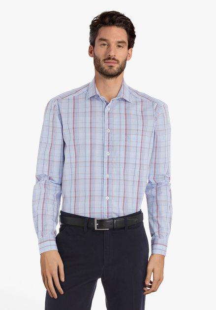 Chemise à carreaux bleu clair – comfort fit