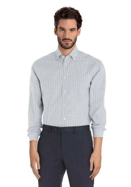 Chemise à carreaux bleu clair – regular fit