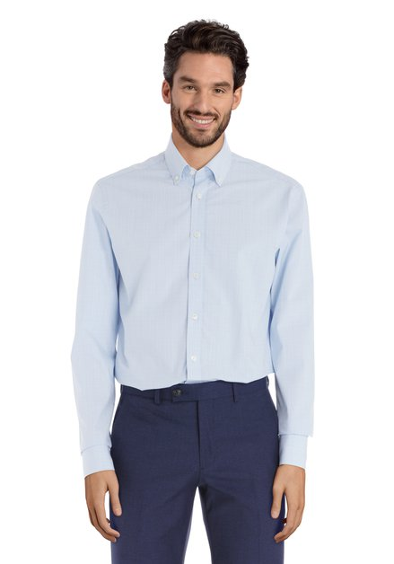 Chemise à carreaux bleu clair - slender fit