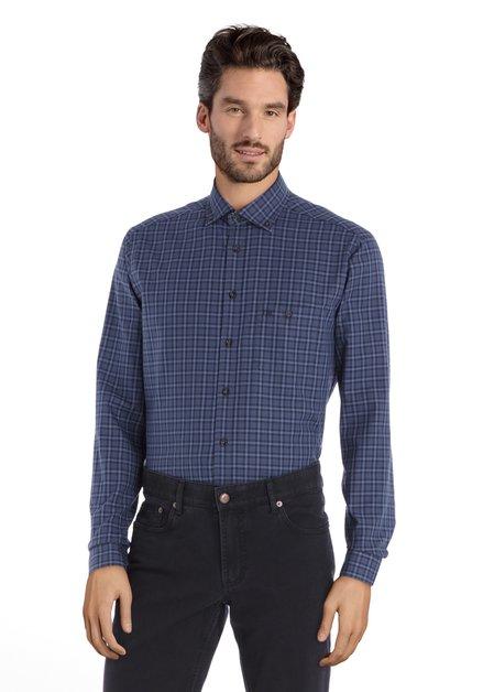 Chemise à carreaux bleus – regular fit