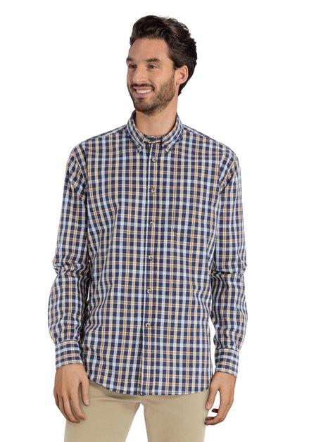 Chemise à carreaux bleus et jaunes - comfort fit