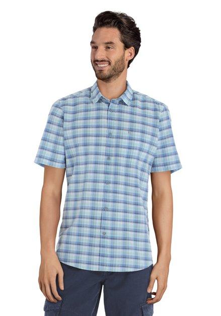 Chemise à carreaux bleus - modern fit
