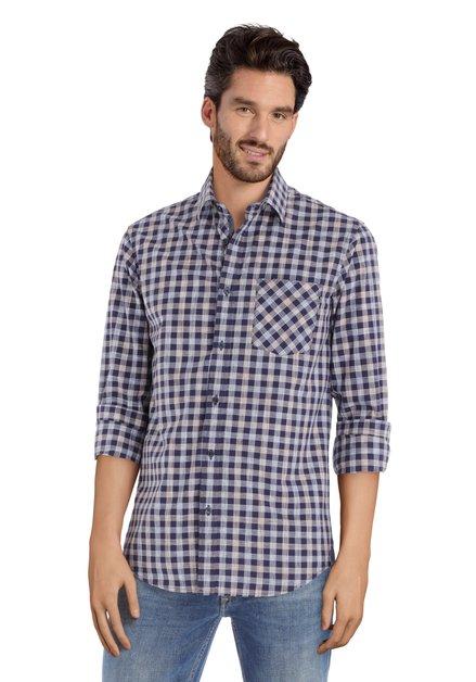 Chemise à carreaux bleus - regular fit