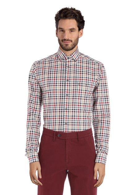 Chemise à carreaux bordeaux – regular fit
