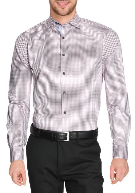 Chemise à carreaux bordeaux - Slender fit