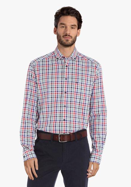 Chemise à carreaux colorés – comfort fit