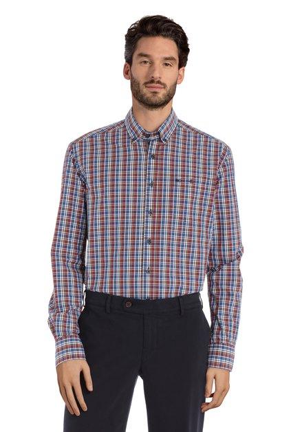 Chemise à carreaux colorés