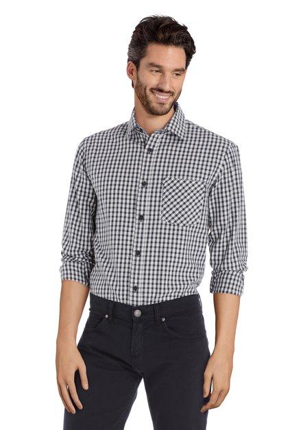 Chemise à carreaux noir et blanc - regular fit