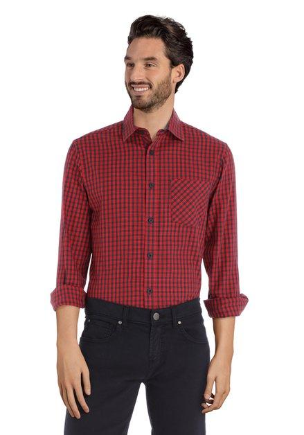 Chemise à carreaux noir et rouge - regular fit