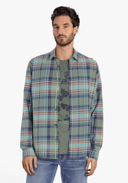 Chemise à carreaux verts – regular fit