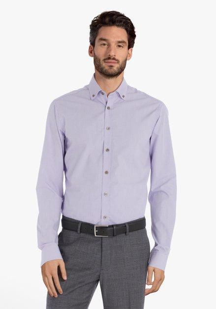 Chemise à carreaux violet clair – slender fit