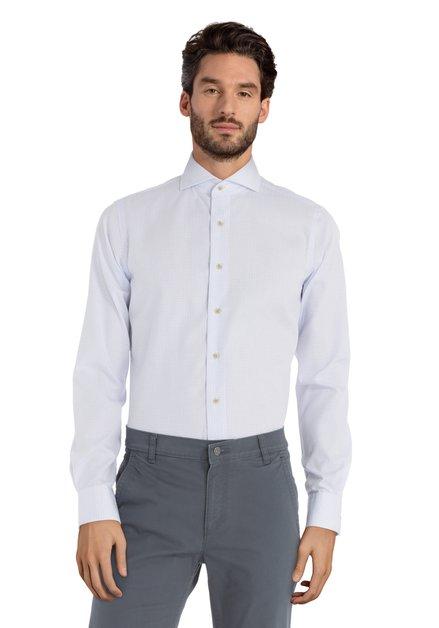 Chemise à mini-imprimé fin bleu – slim fit