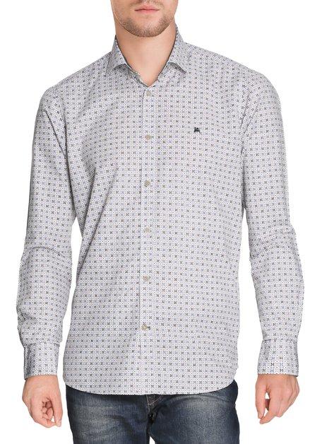 Chemise avec motif bleu et brun - Modern fit