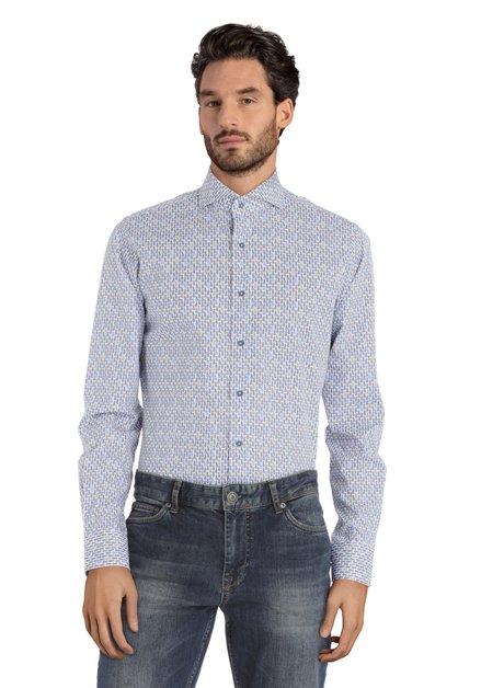 Chemise blanche à ananas bleus – slim fit