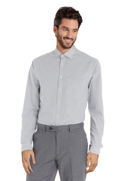 Chemise blanche à carreaux verts - regular fit