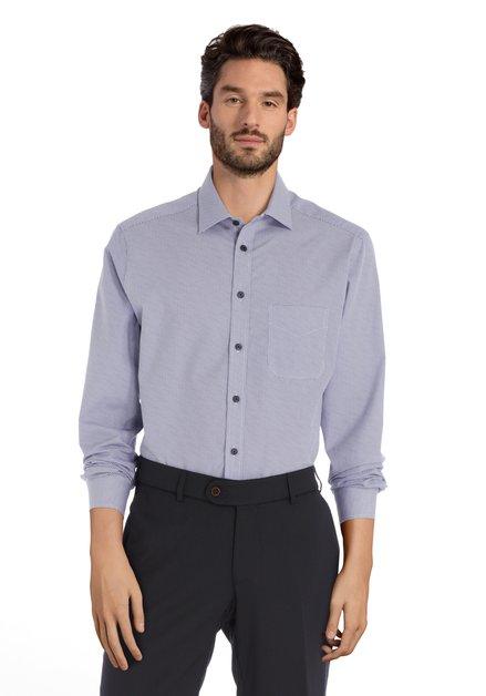 Chemise blanche à imprimé bleu - regular fit
