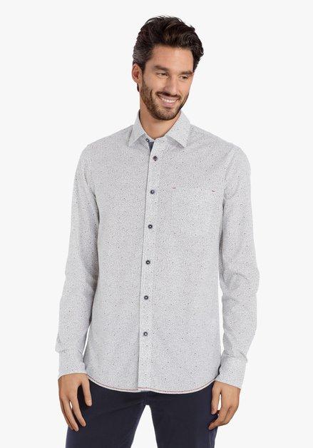 Chemise blanche à lettres vertes – regular fit