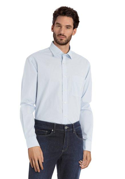 Chemise blanche à pois bleus – comfort fit