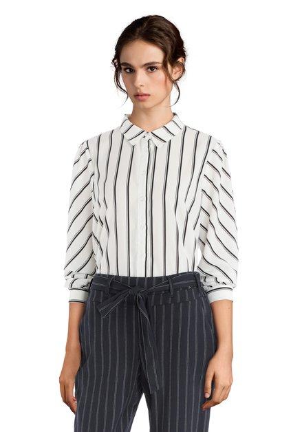 Chemise blanche à rayures noires