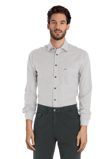 Chemise blanche avec imprimé rouge - regular fit