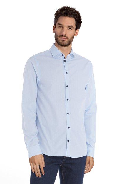 Chemise bleu clair à mini-imprimé - regular fit