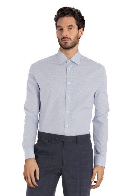 Chemise bleu clair avec mini imprimé – regular fit