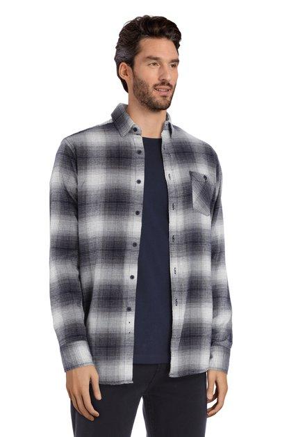 Chemise bleu foncé à carreaux – regular fit