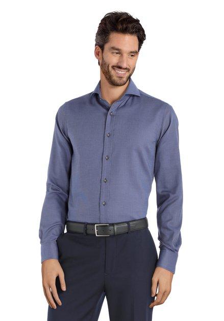 Chemise bleu foncé à mini-imprimé – slim  fit