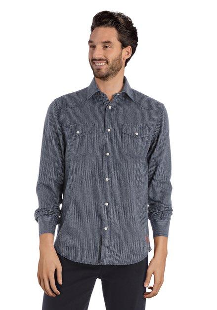Chemise bleu marine à triangles - regular fit